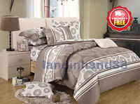 M168 Duvet/Doona/Quilt Cover Set Queen/King/Super Size Bedding Set 100% Cotton