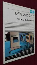 Prospekt WMW NILES Drehmaschine DFS 2/2 CNC, Werkzeugmaschinen der DDR, 1986