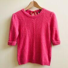 Premium TOPSHOP Barbie Pink Cable Knit Jumper Sweater Angora Wool Blend 10 38