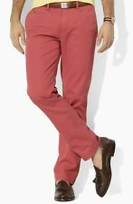 POLO RALPH LAUREN~ MENS BERRY RED CLASSIC FIT  CHINO SIZE 36/32 NEW