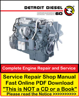 Detroit Diesel Series 60 Repair Service Workshop Manual Download + DDEC