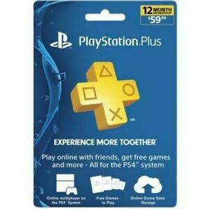 Sony Playstation Plus 12 Months 1 year Subscription PS plus
