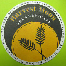HARVEST MOON BREWERY - CAFE Beer COASTER, Mat, New Brunswick, NEW JERSEY 2012