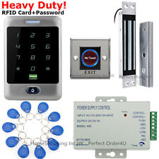 New Waterproof RFID Card and Password Door Access Control Kit+Door Magnetic Lock