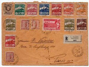 1919 SAN MARINO ITALY TO FRANCE REG 14 COLORS FRANKING COVER, RARITY
