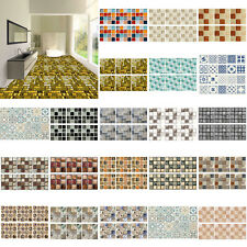 6/20/24pcs PVC Mosaic 3D Self Adhesive Wall Tile Sticker Bathroom Kitchen Decal#
