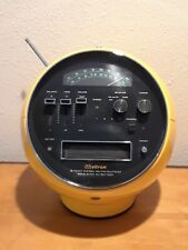 Weltron 8 Track Stereo Radio Am/Fm 2001 Yellow Vtg 70s Rare diving Space helmet