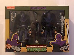 NECA Teenage Mutant Ninja Turtles Action Figure 2 Pack Foot Soldier Factory Seal