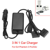 For DJI Phantom 3 Pro/Adv SE Drones 3 IN 1 Car Charger Battery Charging Adapter