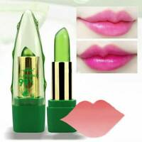 Women Aloe Vera Lip Color Mood Changing-Lipstick Long Lasting Moisturizing~