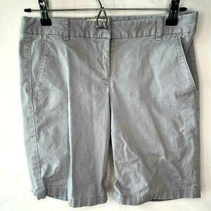 J Crew Womens Bermuda Shorts Gray Stretch Flat Front Pockets Casual Classic 0