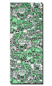 Robot Mob - Green - Ltd Edition Canvas. Cute Urban. Kidrobot. graffiti. Outsider