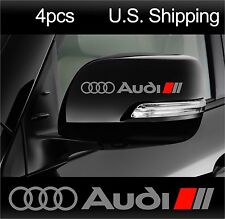 4 AUDI Stickers Decals Door Handle Wheels Mirror Racing AUDI Sport A6 S4 SILVER