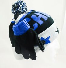Toby & Me Boys Beanie Glove Set Black Cream Navy Fit 4 -20