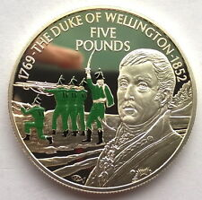 Jersey 2002 Duke of Wellington 5 Pounds Silver Coin,Proof