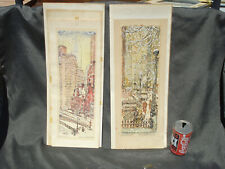 James Sanford Hulme (1900-1958) pair (2) nicely Framed original Serigraphs