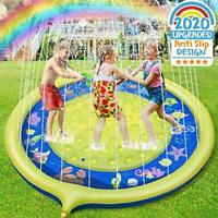 Sprinkle and Splash Water Play Mat Non-slip Upgraded, 68 Inches