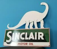 VINTAGE SINCLAIR GASOLINE PORCELAIN GAS MOTOR OIL SERVICE LARGE BARN DIECUT SIGN