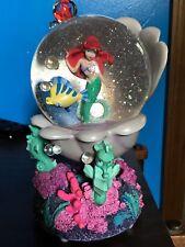 "Little Mermaid Ariel Disney Store Snow Globe, Plays ""Under the Sea"" Flounder"