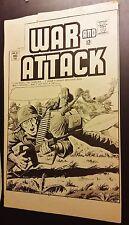 War Lot Comic Production Proofs B&W ~ Blank back WH