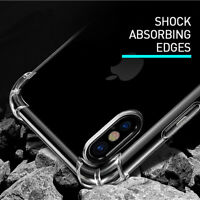 NEW Shockproof Tough iPhone 8 / 7 Plus X 6S Soft Gel Clear Case Cover for Apple