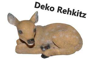 Rehkitz Bambi Dekofigur Reh Garten Herbst Advent Deko lebensecht braun Bambi
