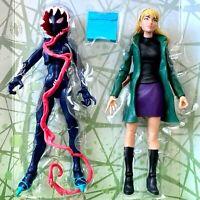 GHOST SPIDER & GWEN STACY Maximum Venom Gwenom Marvel Legends no Venompool BAF