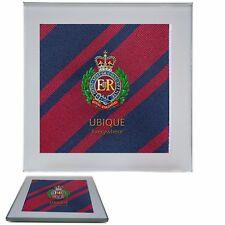Royal Engineers Premium Drinks Mug Coaster with regimental badge on a Corps Tie
