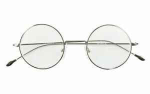 Agstum Antique 44mm Round Metal Wire Vintage Reading Glasses Readers +3.0 Silver