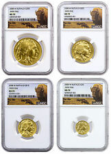2008-W Gold Buffalo 4-Coin Set NGC MS70 (Buffalo Label) SKU41643