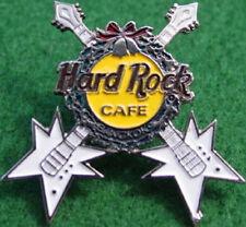 Hard Rock Cafe BANGKOK 1996 CHRISTMAS PIN White Crossed GUITARS PIN - HRC #54195