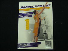 PAU GASOL GAME-WORN SWATCH # TO 399--2010-11 DONRUSS