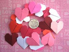 10 X HANDMADE ORIGAMI MIXED COLOUR HEARTS