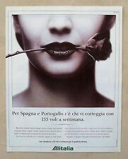 C224-Advertising Pubblicità-1998- ALITALIA