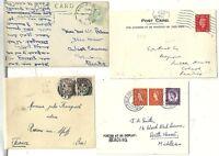 1899/1966  4 READING POSTAL HISTORY FPO SKELETON PANGBOURNE TENNIS CARD >FRANCE