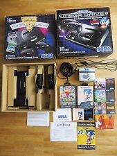 Condizione top! Sega Mega Drive Magnum Set + 4 giochi + 2 controller OVP