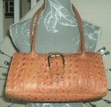 Pell Mell Leather Crock Print Shoulder Tote Bag Handbag