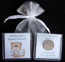 GET WELL SOON GIFT LUCKY SIXPENCE WISHING YOU A SPEEDY RECOVERY KEEPSAKE