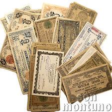 40 BANKNOTES Philippines Guerilla WWII Bohol-Cagay-Iloilo-Misami-Negros-Mindanao