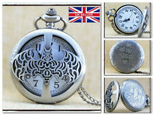 New BATMAN Chain Necklackle POCKET WATCH Vintage Western *UK Seller*