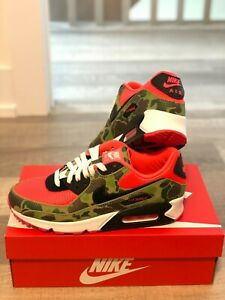 Nike Air Max 90 Reverse Duck Camo Infrared Size 8 US CW6024-600 Brand New