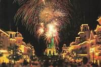 Vintage Postcard Walt Disney World Magic Kingdom Cinderella's Castle Fireworks