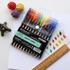 12x Color Gel Pen Glitter Scrapbooking Ink Pens Adult Drawing Painting Craft Art