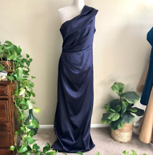 Eliza J • One Shoulder Ruched Blue Gown Size XL