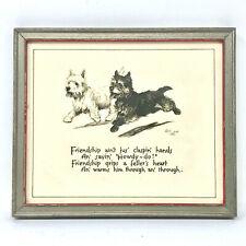 "Vintage Scottie Dog Picture in Frame, 6 1/2"" x 5 1/5"""
