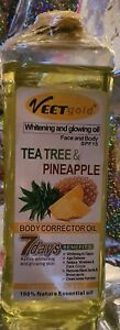 VEETGOLD VITAMIN C FACE & BODY CORRECTOR 7 DAYS WHITENING AND GLOWING OIL 1000ML