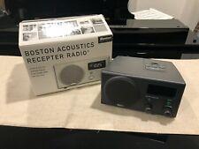 Boston Acoustics Recepter Am/Fm Alarm Clock Radio Aux Input - Original Box