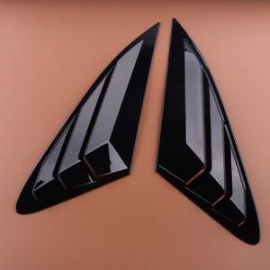Black 1/4 Quarter Panel Side Window Louvers Vent Fit For Kia K5 Optima 2021-2022