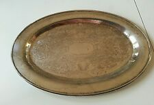 Vintage Eales 1779 silverplated small oval dish fancy