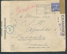2E W.O., CENSUUR ENV. MET 12½ CT.DUIF 'S GRAVENHAGE - MARACAIBO VENEZUELA ZL322